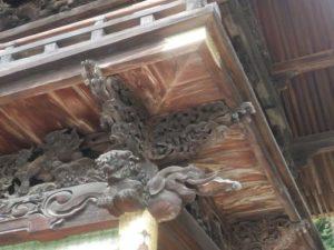 令和2年9月17日(木曜日)社殿の彫刻